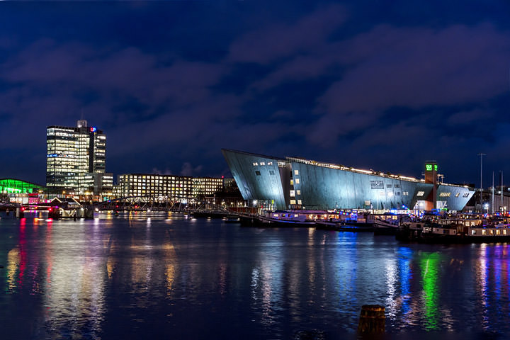 Photograph of Oosterdok at Night