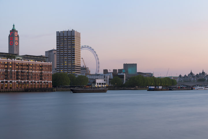 Photograph of Oxo Tower and the London Eye 1