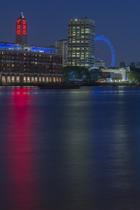Photograph of Oxo Tower and the London Eye 2