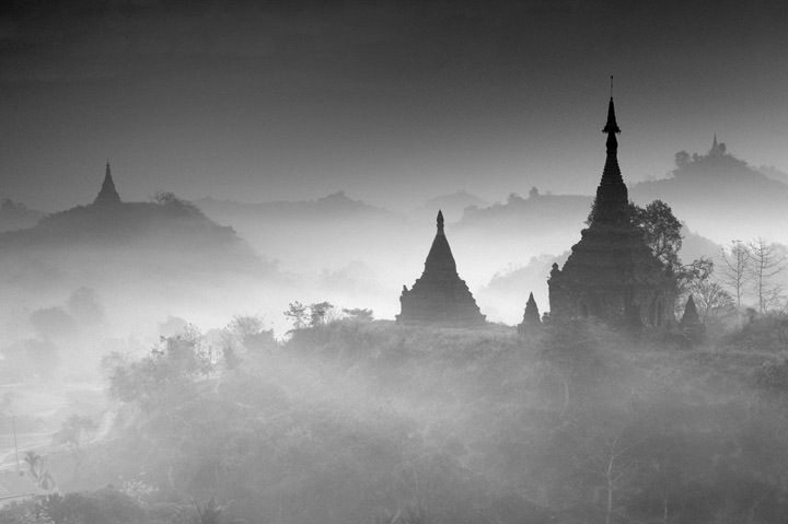 Photograph of Pagodas Mrauk U 2