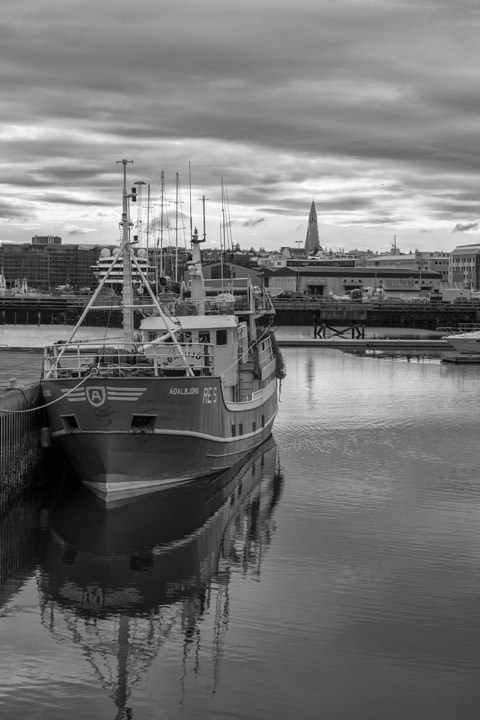 Photograph of Reykjavik Harbour