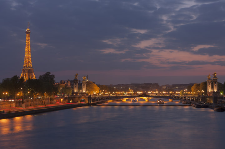 Photograph of River Seine at Dusk