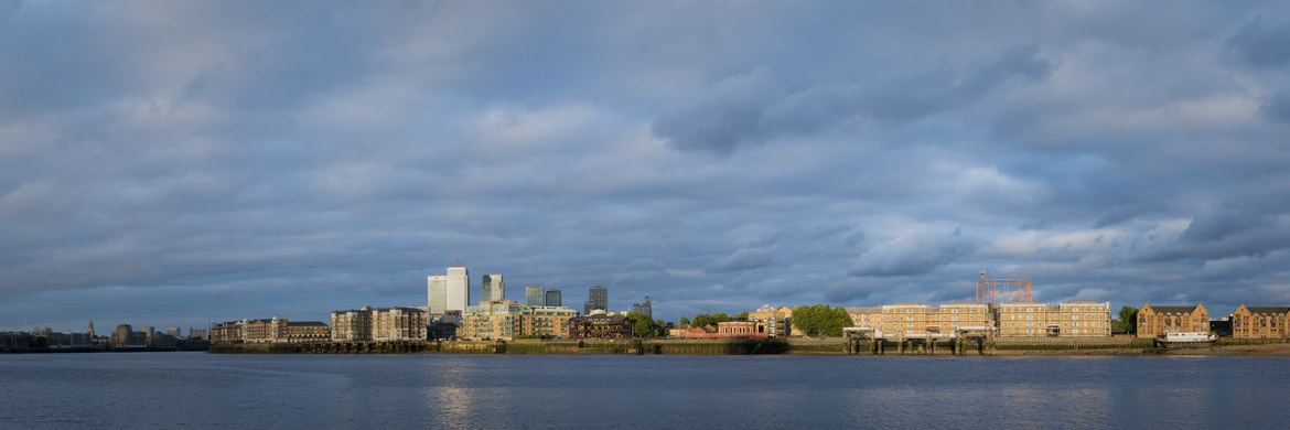 River Thames East London at Rotherhithe in Southwark