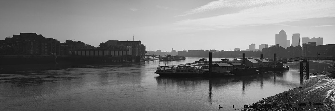 Photograph of River Thames East from Bermondsey