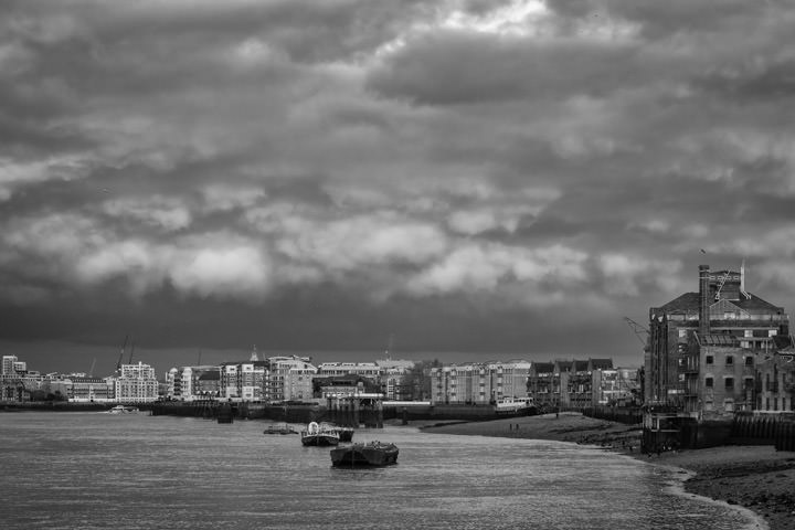 River Thames at Rotherhithe  in Southwark