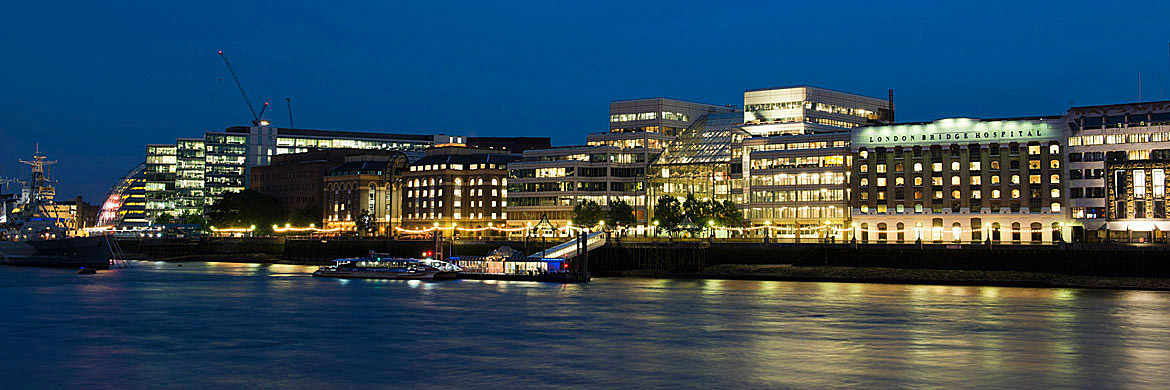 River Thames Southwark at night