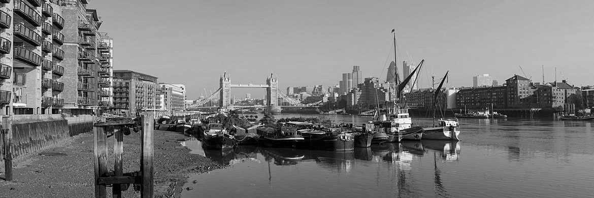 River Thames West from Bermondsey featuring Tower Bridge