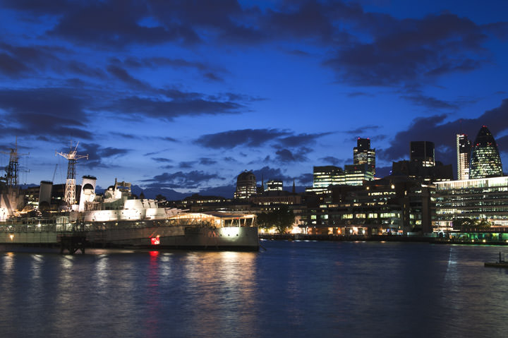 Photograph of River Thames at Dusk