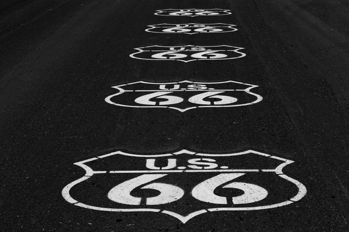 Road Markings -  Route 66 Arizona