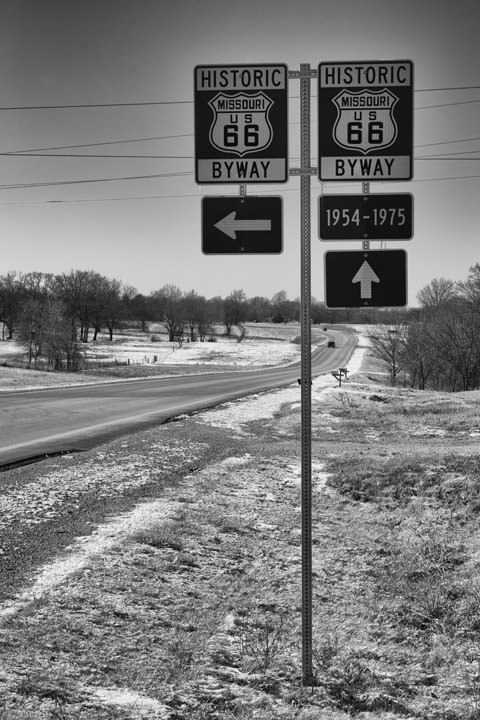 Black And White Photographs Of Route 66 Missouri