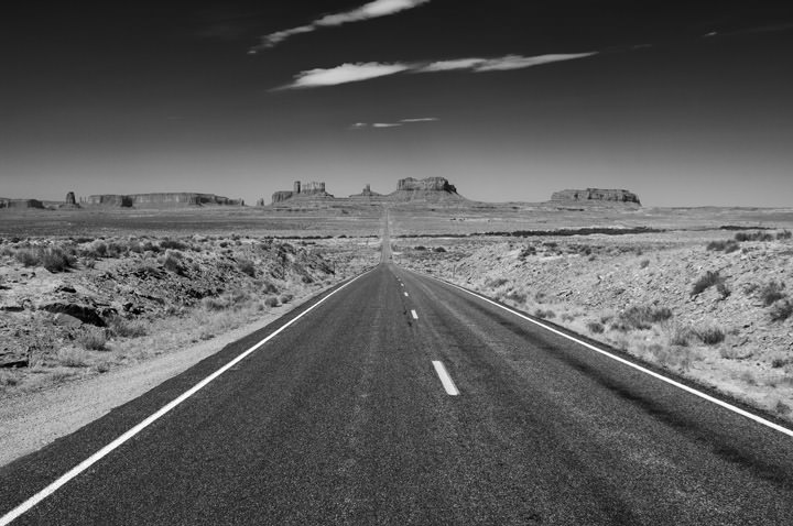 Road through the Desert Monument Valley