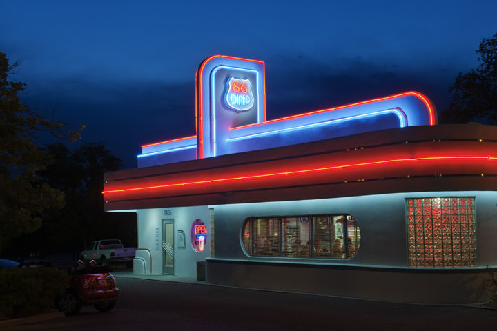 photograph of route 66 diner