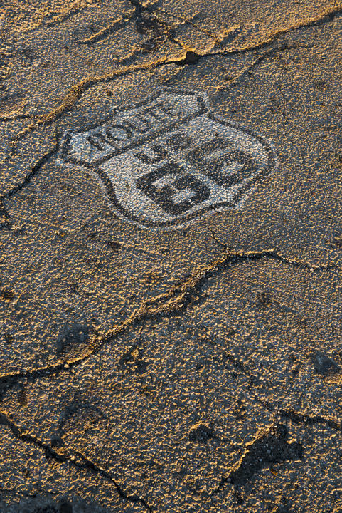 Photograph of Route 66 Road Marking Sapulpa