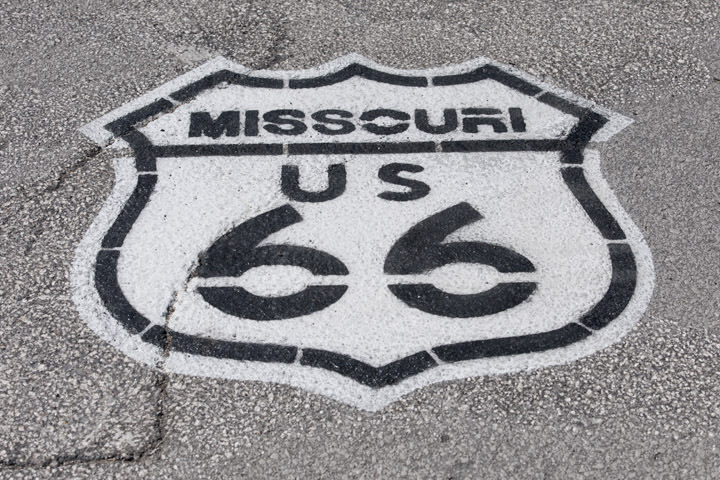 Route 66 - Road Marking Missouri