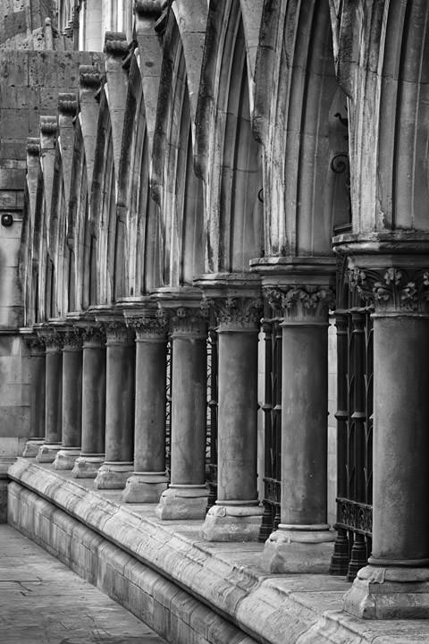 Pillar detail of the Royal Courts of Justice in London