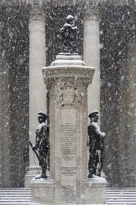 Royal Exchange Snow Scene 2