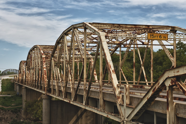 Photograph of Steel Truss Bridges Verdigris