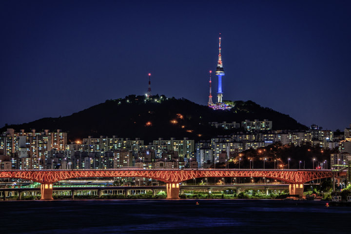Photograph of Seoul Skyline 1