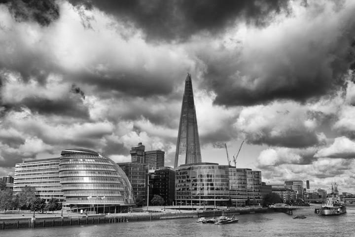 Photograph of Shard and City Hall 1