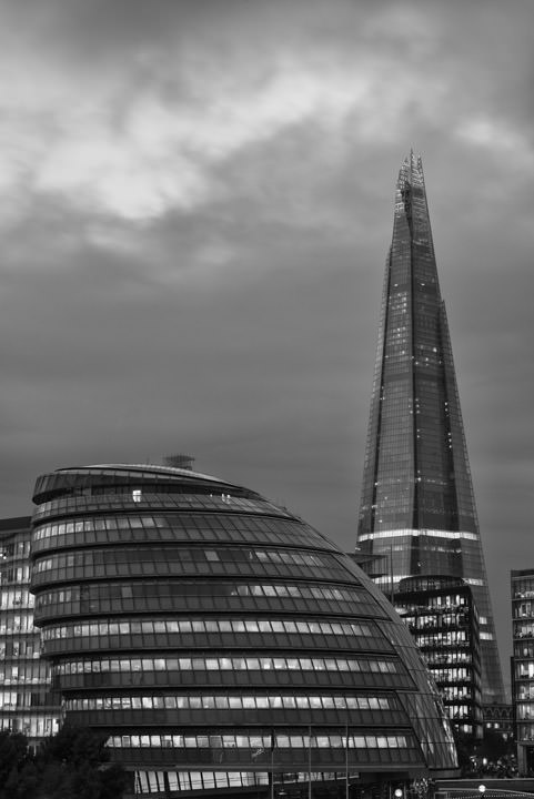 Photograph of Shard and City Hall 2