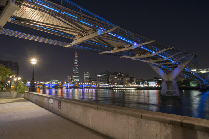 Photograph of Shard and Millennium Bridge 1