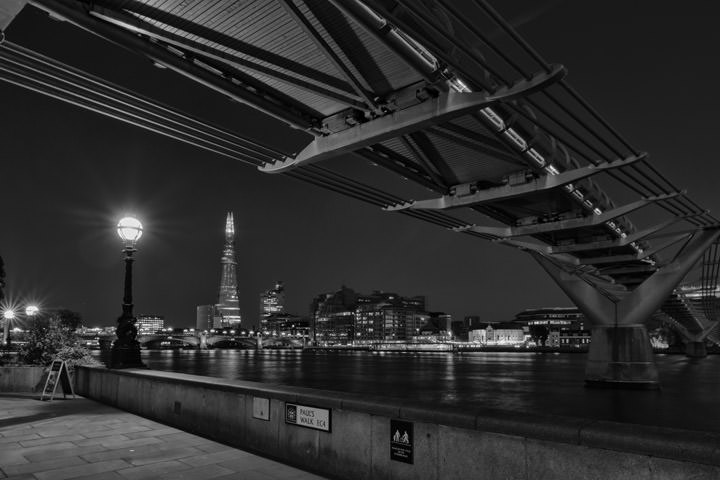 Photograph of Shard and Millennium Bridge 2