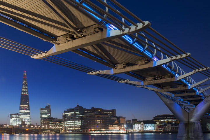 Photograph of Shard and Millennium Bridge 4