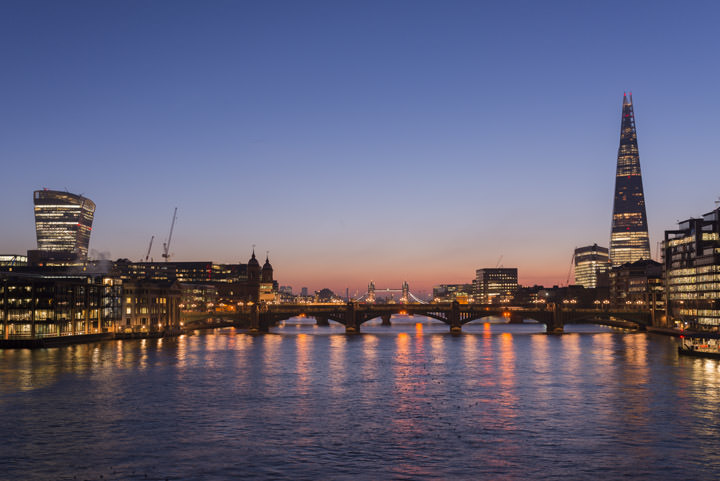 Photograph of Shard and Millennium Bridge 5