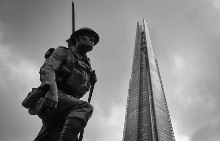 Photograph of Shard and Soldier