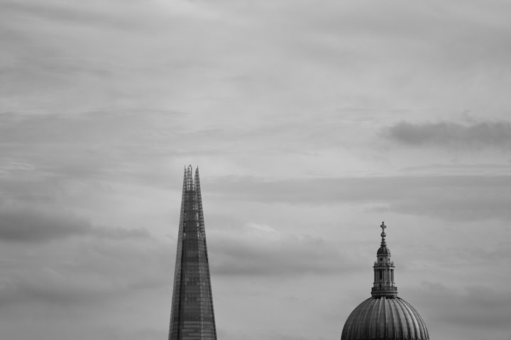 Photograph of Shard and St Pauls