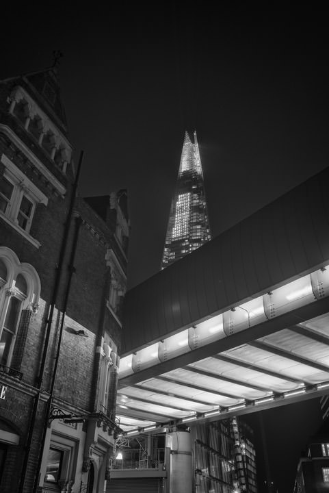 Photograph of Shard from Borough Market