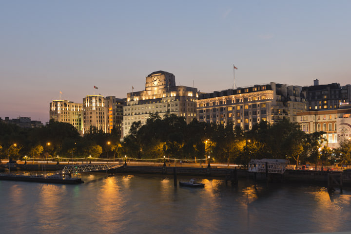 Shell Mex House on River Thames at Westminster