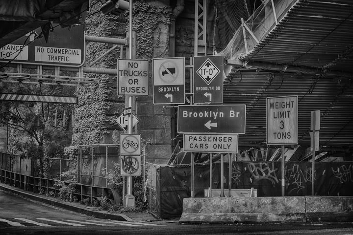 Signs Brooklyn Bridge