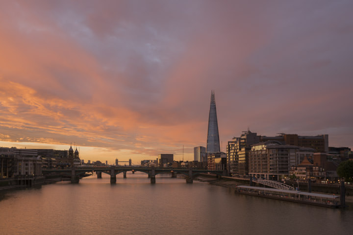 Photograph of Southwark Bridge Dawn
