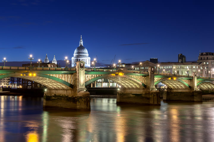 Southwark Bridge and St Pauls Cathedral