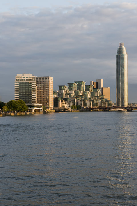 St Georges Tower and the River Thames in late afternoon