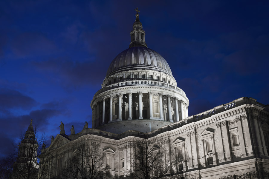 St Pauls Cathedral Blue