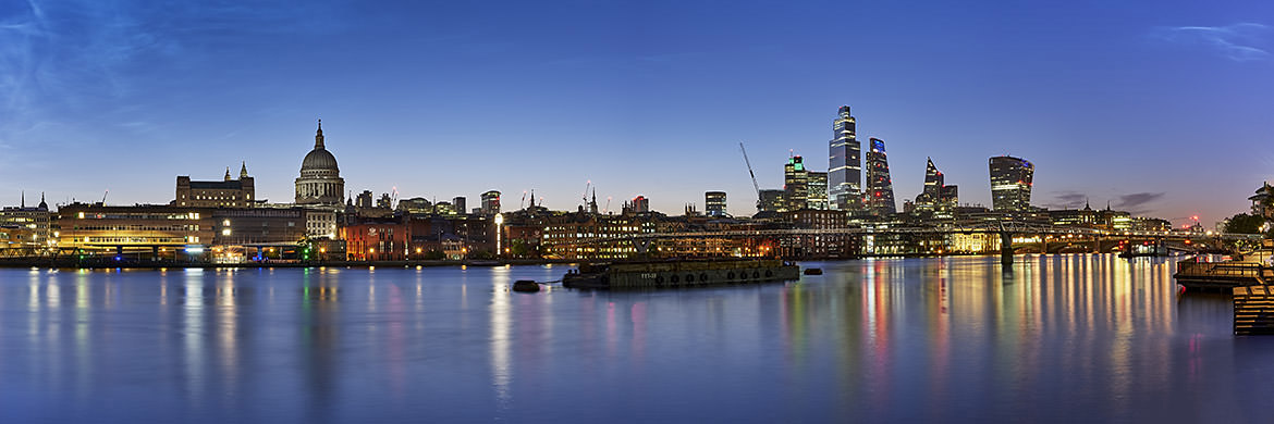 Photograph of St Pauls City Skyline Dawn 2