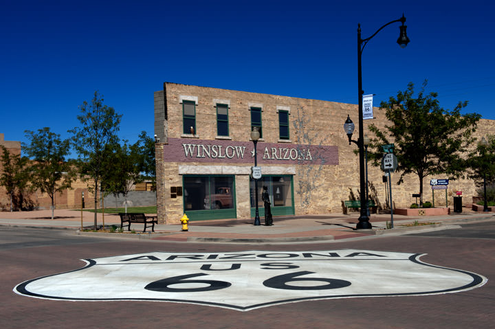 Standing on a Corner -  Route 66 Winslow - Arizona