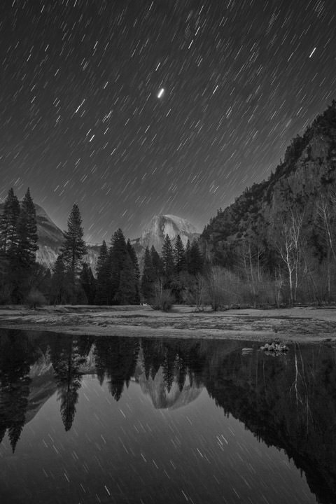 Photograph of Stars above Yosemite 1