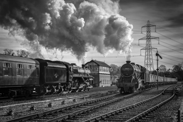 Photograph of Steam Trains