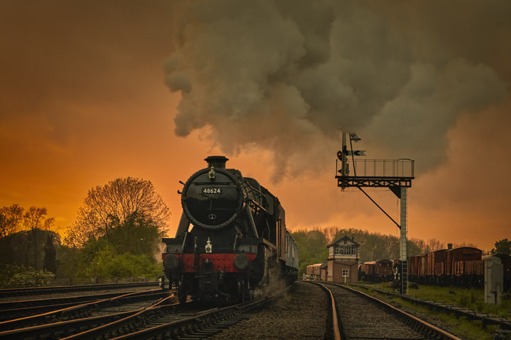 Photograph of Steam at Sunset