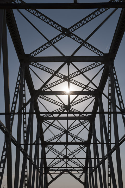 Steel Truss Bridge -  Route 66 Albuquerque - New Mexico
