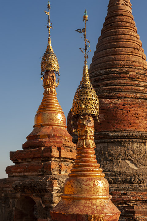 Photograph of Stupas Mrauk U