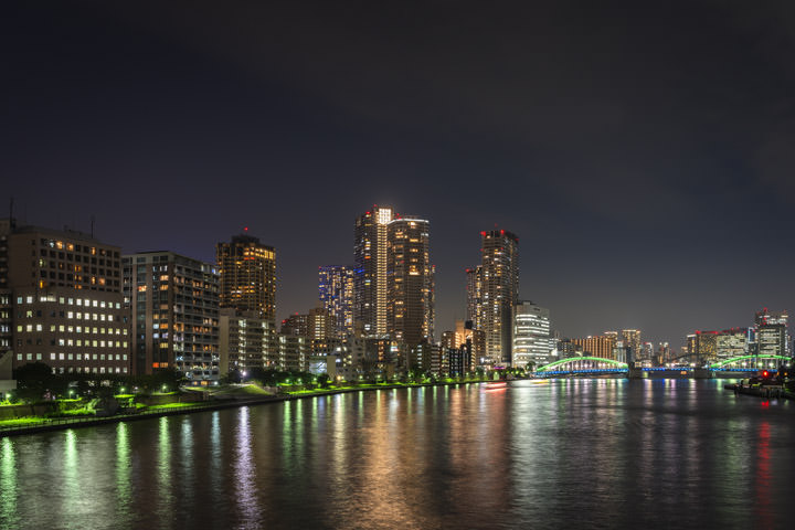 Photograph of Sumida River Skyline 2