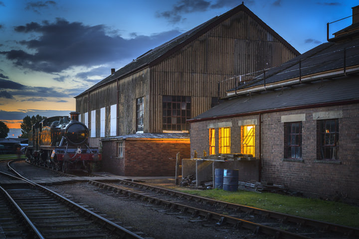 Photograph of The Engine Shed at dusk