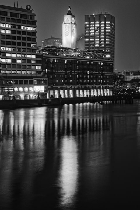 Photograph of The Oxo Tower at night