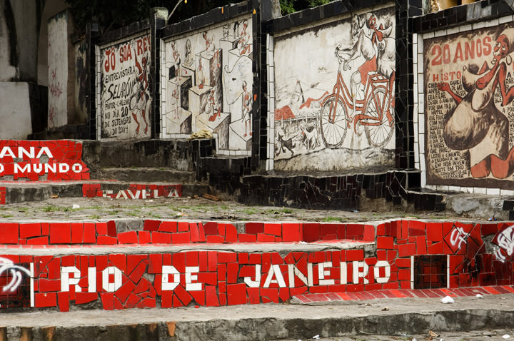 The Red Steps of Lapa Rio - Brazil