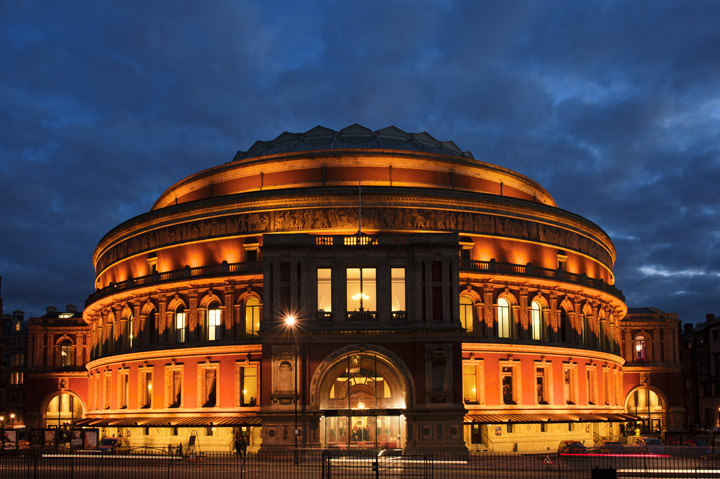 The Royal Albert Hall at dusk