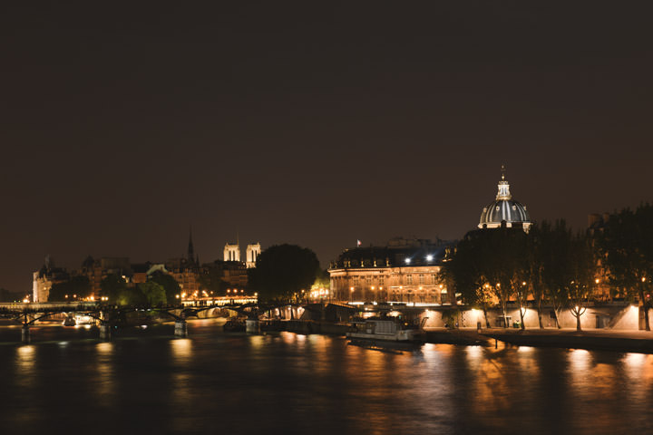 Photograph of The Seine at Night